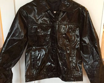 90's shiny PVC jacket size S