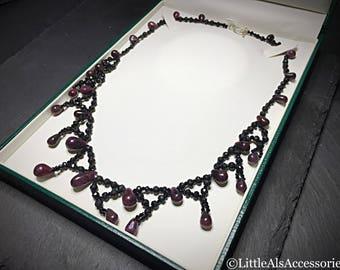 Ruby Gemstone, Ruby Necklace, Ruby Jewelry, Genuine Ruby, Natural Ruby, July Birthstone, Gemstone Choker, Real Ruby, Anniversary Gift
