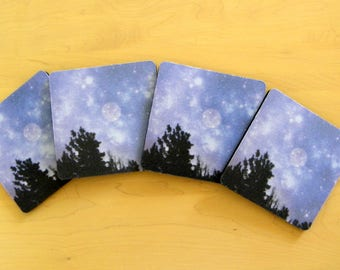 FULL MOON Coaster Set created by Pam Ponsart for Pam's Fab Photos; it's just 'the ticket' for a Special Person on your shopping list