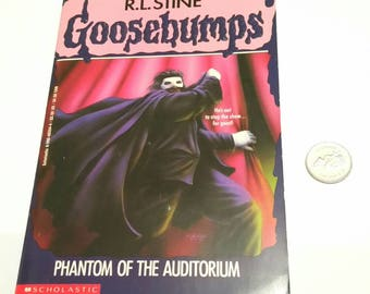 Vintage GOOSEBUMPS Book PHANTOM of the AUDITORIUM Opera 90s Halloween Fiction Haunted Scary Story Young Adults Easy Readers Storybook Gift
