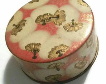 50s COTY Airspun Powder Box 1950s Lalique Fluffy Cotton Design Vintage Vanity Beauty Jewelry Box Girly Pinup Boudoir Peach Decor Gift Prop
