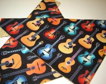 CLEARANCE!  Acoustic Guitars  Dog Scarf Over the Collar Dog Bandana