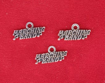"""10pc """"Marching band"""" charms in silver style (BC1324)"""