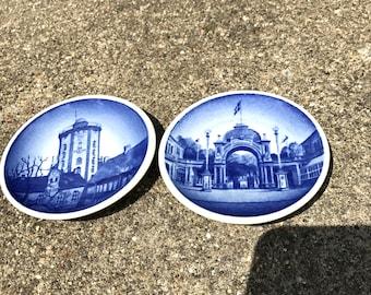 Vintage Royal Copenhagen Two Mini Collectible Plates