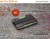 SALE 20 PERCENT Premium Wood wallet, Black wenge wood, Minimal Wallet, Wooden wallet, Credit card holder, boyfriend gift, Personalized walle