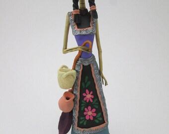 """CATRINA, traditonal MARIA, 100% handmade, mexican day of the dead 10"""""""