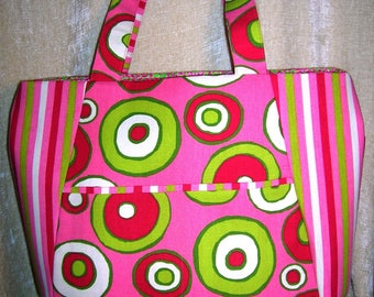 Bright and lively mixed prints tote bag - Rosa