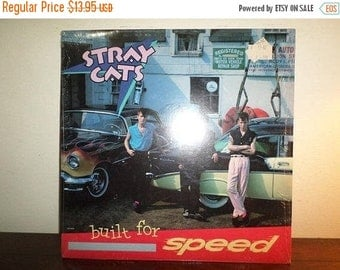 Save 30% Today Vintage 1982 Vinyl LP Record Stray Cats Built for Speed Near Mint Condition In Shrink 11841