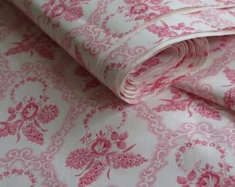 "Free Shipping! Antik ""vintage linen fabric flower farmer"" Patchwork Quilting ""Unique original unused"" size: 51.2"" x 157.5"" Long / 4.37Yard"
