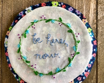 SALE! // be here, now. // Hand-stitched Magnet // 3.25 inch