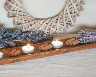 Antique Style Traditional French Bread Board / Baguette Board / Centerpiece - Made of Pine Wood