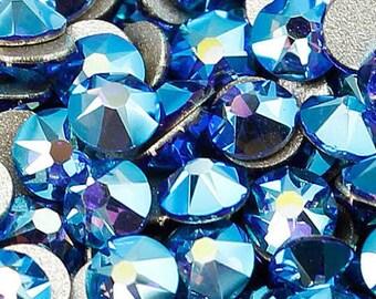 Sapphire AB Swarovski Crystal Flat Back SS20 Non hotfix