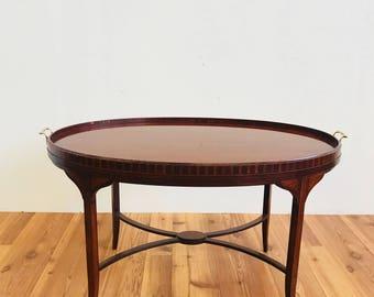 3' Baker Rosewood Veneer Oval Coffee Table