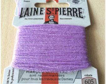 St. Pierre 605 purple wool yarn