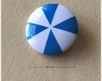 "badge 25 mm ""Windmill blue 01"""