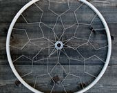 Bicycle wall sculpture art | Noma Wall Mandala | Silver | recycled bike parts | gift for cyclist | FAST & FREE SHIPPING!