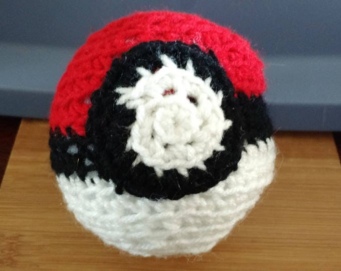 Hand Crocheted Pokeball - 5 inches