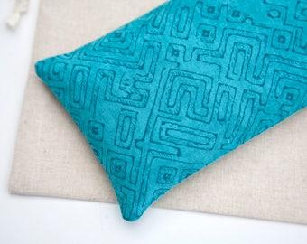 Eye Pillow, Turquoise Eye pillow, Lavender and Flax Eye Pillow, Spa favor, Sleep Aid, Relaxation, Organic flax pillow, Eye bag, Heating pad