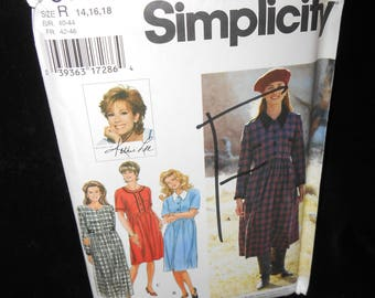 Misses Dress Simplicity 9812 Womens Dress Sizes 14-18 Kathie Lee Collection