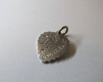 Vintage Sterling Silver To My Sweetheart Charm W #408