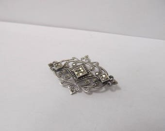 925 Silver Marcasite Pin W #780