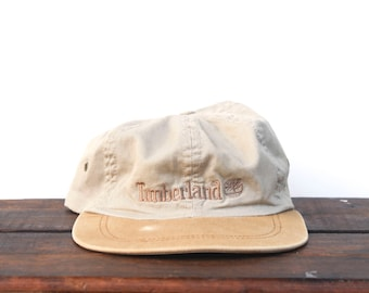 Vintage 90's Timberland Boots Unstructured Strapback Hat Baseball Cap