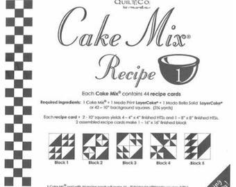 Cake Mix Recipe #1 - Quilt Pattern - Layer Cake Friendly - Miss Rosie's Quilt Company