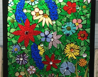 Mosaic Stained Glass Window Panel