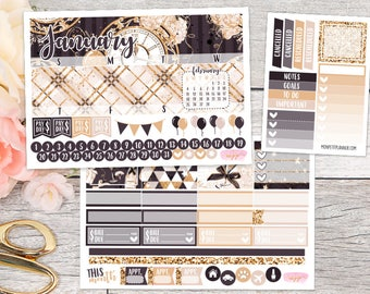 January Monthly Kit || Planner Stickers for ECLP Erin Condren Life Planner