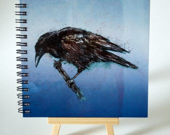 CROW notebook/sketchbook 140 x 140mm with plain writing paper