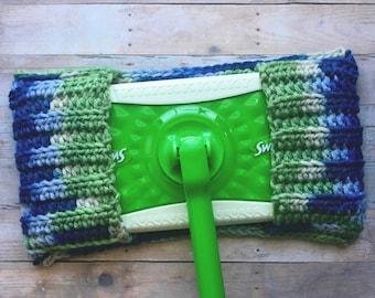 Crochet Dust Mop Cover, Reusable Mop Cover, Sweeper Cover, Crochet Swiffer, Handmade by KathysYarnCreations