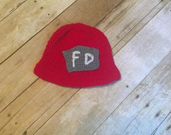 Baby child fire fighter crochet Hat 1-3 years