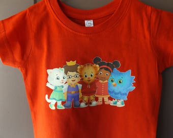 Daniel Tiger's Neighborhood Shirt - New Born through 5XL Available! - Text Can be Added Upon Request