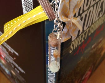 Bookmark pink vial yellow phosphorescent