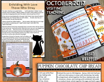 October 2017 Visiting Teaching Message and Printables, LDS Relief Society, Instant Download, VT Message