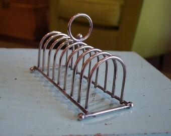 Vintage Chrome Toast Rack-Letter Holder-Napkin Holder-8 Slots