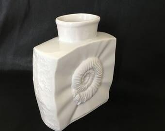 Hutschenreuther Fossil Textured Op Art Bisque Porcelain Vase