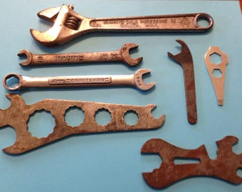 Lot of 7, vintage/antique wrenches