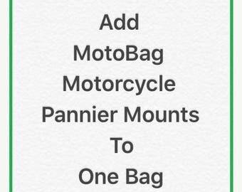 Discounted Regular Price Add MotoBag Motorcycle Pannier Mounts to one bag