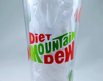Diet or Regular Mountain Dew is my water tumbler with straw 16 or 24 ounce - Valentine's, Galentine's, Easter gift