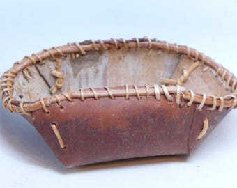 Vintage Birch Bark Basket