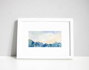Early Morning   Mountain Print   A3