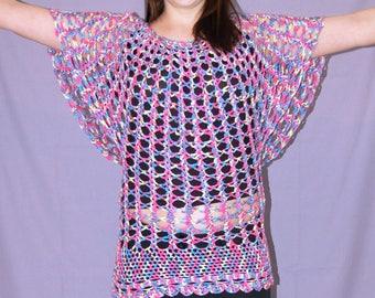 Multicoloured Crochet Asos Style Tunic