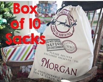 10 Blank Santa Sacks, Santa Sack Blanks Bulk, Blank Santa Bag, Santa Bag Blank, Wholesale Santa Sacks, Santa Sacks