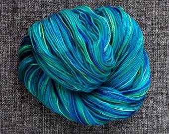 Under the Sea 2 SW merino 4ply sock yarn hand dyed skein
