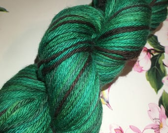Jade swirl, dk yarn, hand dyed yarn,  yarn angels, super wash merino