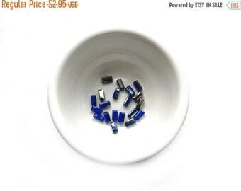 HALF PRICE 20 Cobalt Blue AB Crystal Rectangle Beads - 6x3mm
