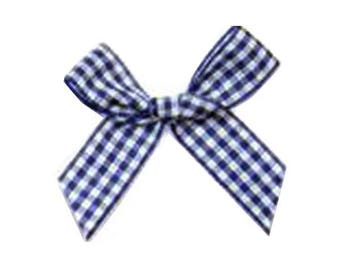 4 4 tiles cm Blue and white gingham bows