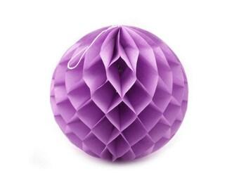 Paper Lantern 25 cm diameter purple ball decoration