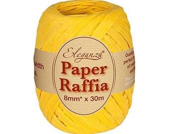 8 mm yellow raffia Ribbon